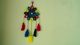 Old bangles reuse idea | Wall hanging Toran from hairbands | wall hanging toran from woolen