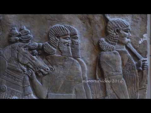 Nimrud, Capture of Astartu and king Tiglath Pileser III in his chariot, British Museum manortiz 1080