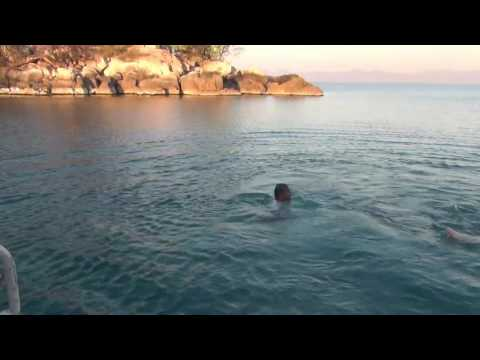 Swimming in the Lake Malawi