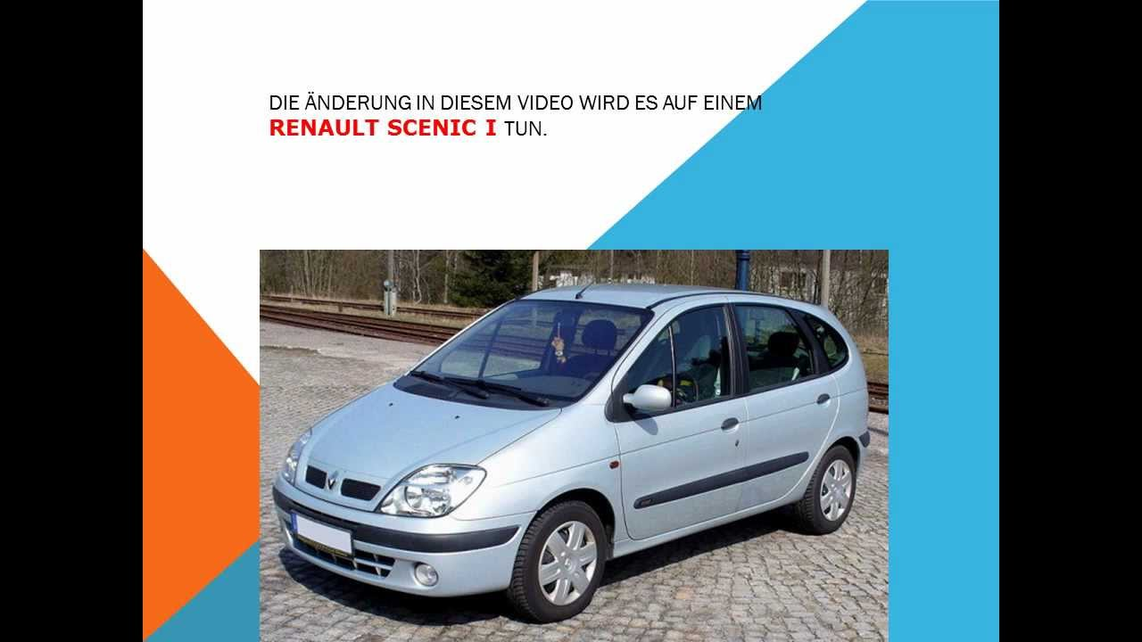 so ersetzen sie den innenraumfilter auf einem renault scenic youtube. Black Bedroom Furniture Sets. Home Design Ideas