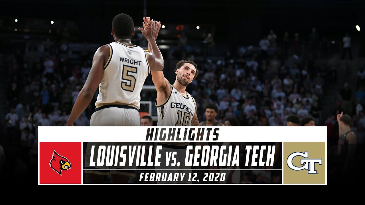 No 5 Louisville Vs Georgia Tech Basketball Highlights 2019 20 Stadium Youtube