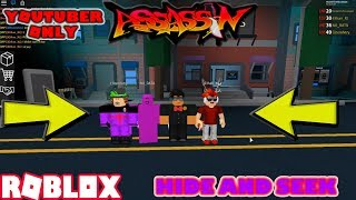 ROBLOX | ASSASSIN: YOUTUBER ONLY HIDE AND SEEK #1 (W/ NO_DATA & iEthan_XL & EliteInfxtry)