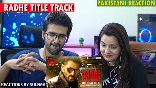 Pakistani Couple Reacts To Radhe Title Track | Salman Khan \u0026 Disha Patani | Sajid-Wajid