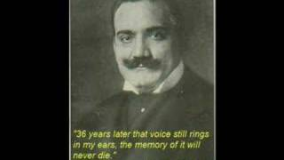 Enrico Caruso - E lucevan le stelle 1904. Digitally remastered.