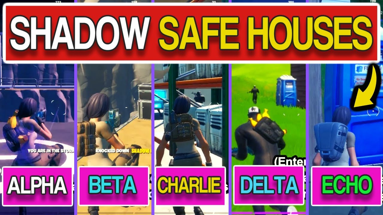 Find Shadow Safe Houses All Fortnite Shadow Safe Houses Week 2 Challenges Season 2 Chapter 2 Youtube