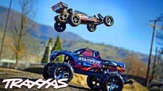 Dirt-Jumping Fun with the Bandit & Stampede VXL | Traxxas