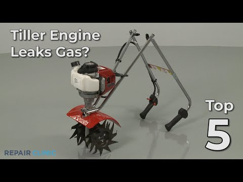 "Thumbnail for video ""Tiller Engine Leaks Gas? Tiller Troubleshooting"""