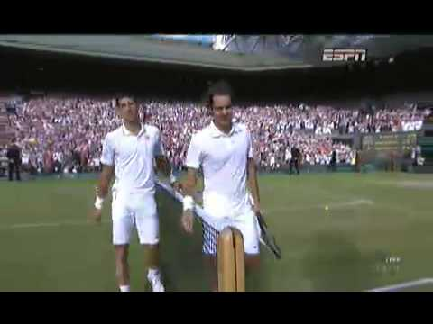 Roger Federer vs  Novak Djokovic - Wimbledon Final last set