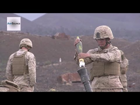 U.S. Marines Firing M252 81mm Mortar System