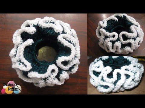 Double Crochet Scrunchie Crochet Tutorial Youtube