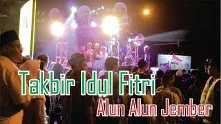 Kemeriahan Malam Takbir Idul Fitri 2019 di Alun Alun Jember