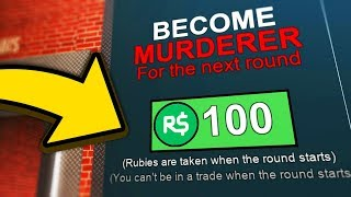 PAYING ROBUX TO BE THE MURDERER! (Roblox Murder Mystery 2)