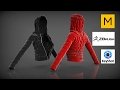Marvelous Designer 5 - Time Lapse - Experiment with Pattern - Down Jacket