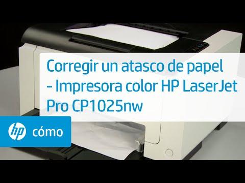 Corregir un atasco de papel - Impresora color HP LaserJet Pro CP1025nw | HP Printers | HP