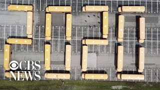 School bus drivers spell out message for Class of 2020