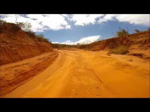 4WD Climbing towards Tsingy deRouge at Ankarana, Madagascar