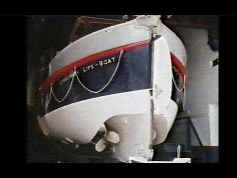 Ilfracombe RNLI Lifeboat, Lloyds 2. Filmed in 1974