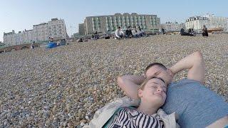 Relaks na plaży w Brighton