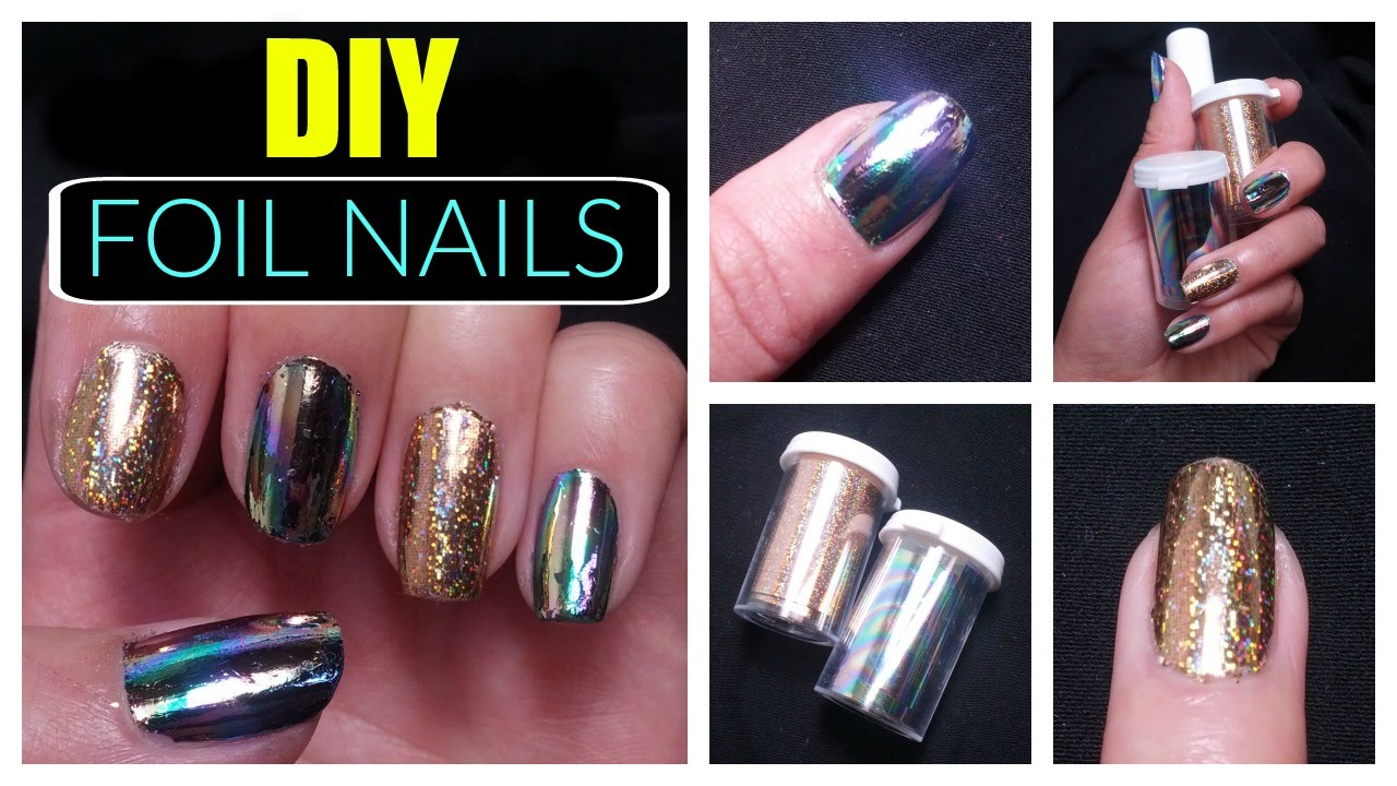 Diy Holographic Mirror Foil Nails Easy