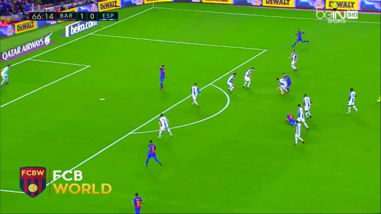Quand Lionel Messi dribble quatre défenseurs