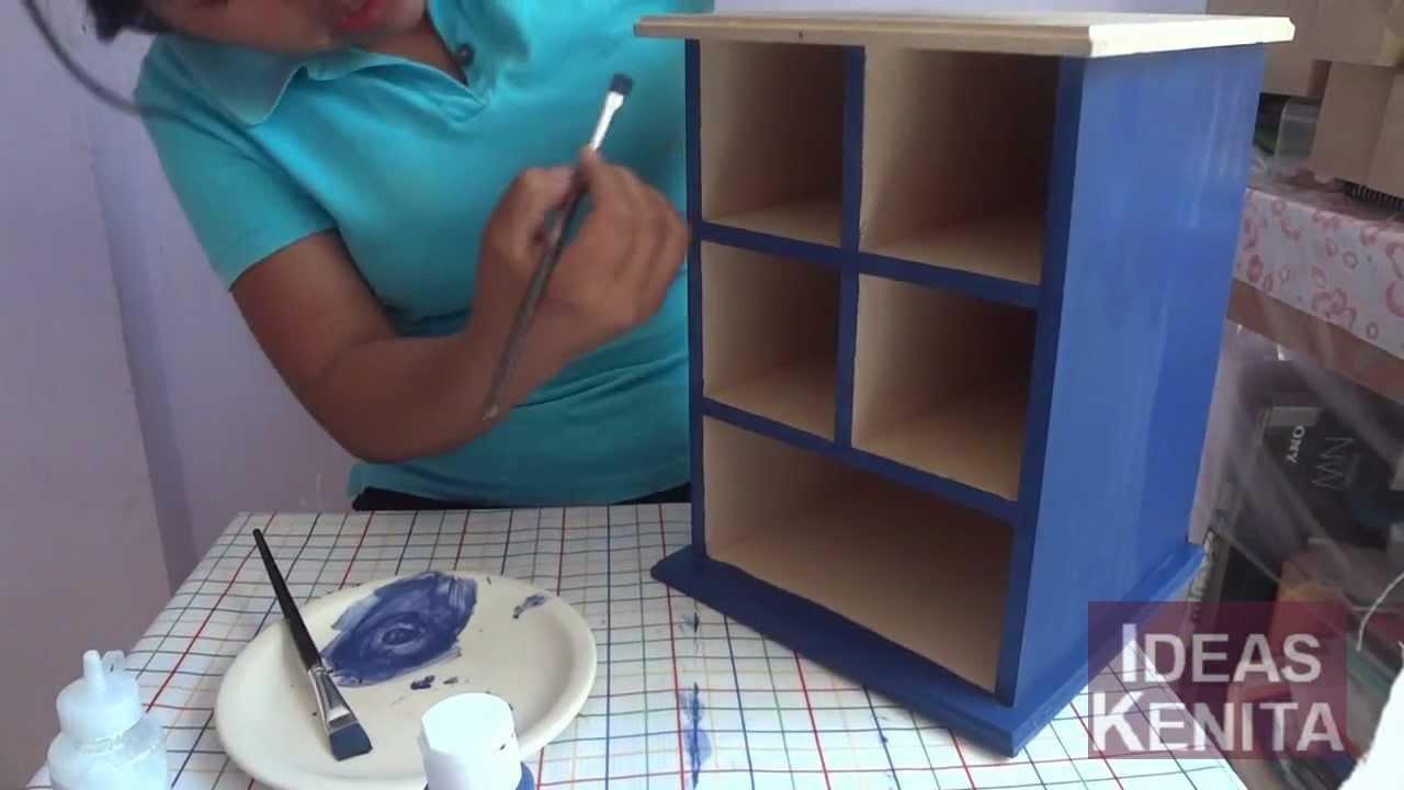 Mueblecito decorado para regalar a tu novio a 1de 2 youtube - Productos de madera para manualidades ...