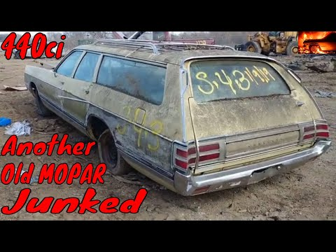 1972 Chrysler Town And Country Wagon Junkyard Find