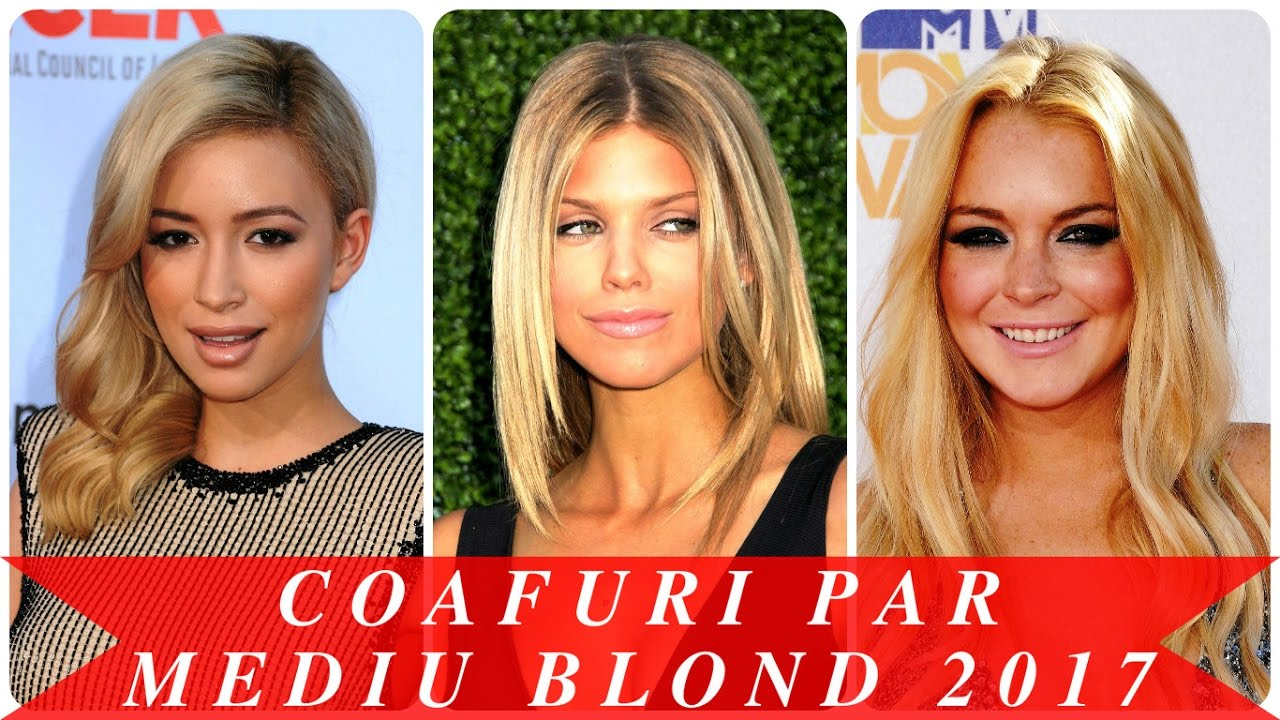 Coafuri Par Mediu Blond 2017 Youtube