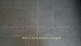 muggulu big | simple kambi kolam | 23 dots rangoli