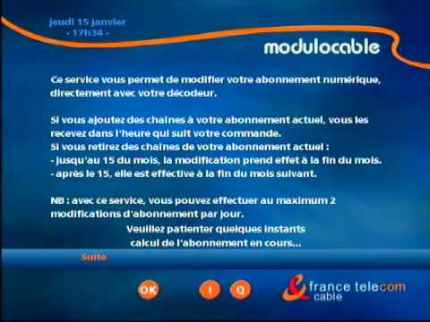 Modulocable france telecom c ble youtube for Cable france telecom exterieur