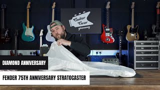 Unboxing The New Fender 75th Anniversary Stratocaster - Diamond Anniversary Finish