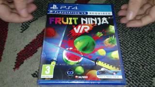 Nostalgamer Unboxing Fruit Ninja On Sony PlayStation Four PS4 PSVR UK Region Free