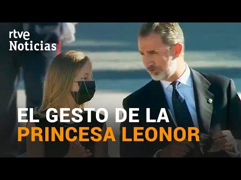 La princesa LEONOR recuerda a su padre, el rey FELIPE VI, que debe ponerse la MASCARILLA | RTVE