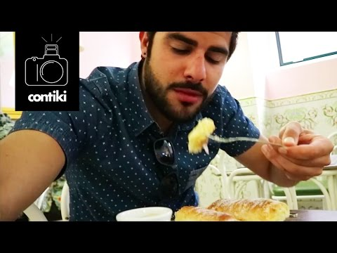 EATING PORTUGUESE FOOD // 48 Hours on Contiki with Mikael - Lisbon