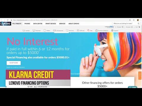 Lenovo Financing With Klarna Credit, Zibby, Behalf Credit, & Business Financing, Bad Credit Finance