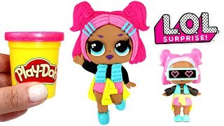 Play Doh VRQT LOL Surprise Doll How to Make Confetti Pop VRQT Doll with Play Doh Creative for Girls