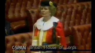 Mrs Thatcher Becomes Lady Thatcher