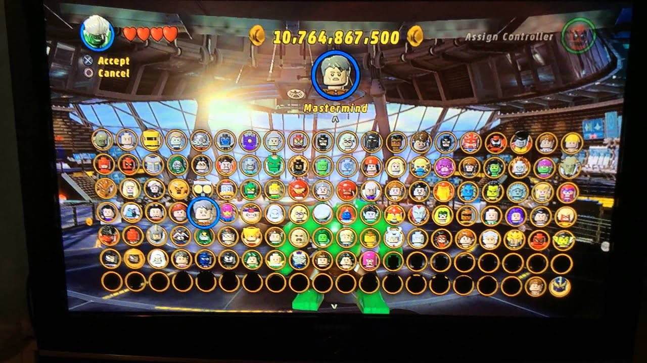 marvel lego xbox 360 characters