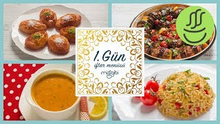 Ramazan 1. Gün İftar Menüsü: Patlıcan Kebabı - Şekerpare Tarifi - Mercimek Çorbası - Şehriye Pilavı