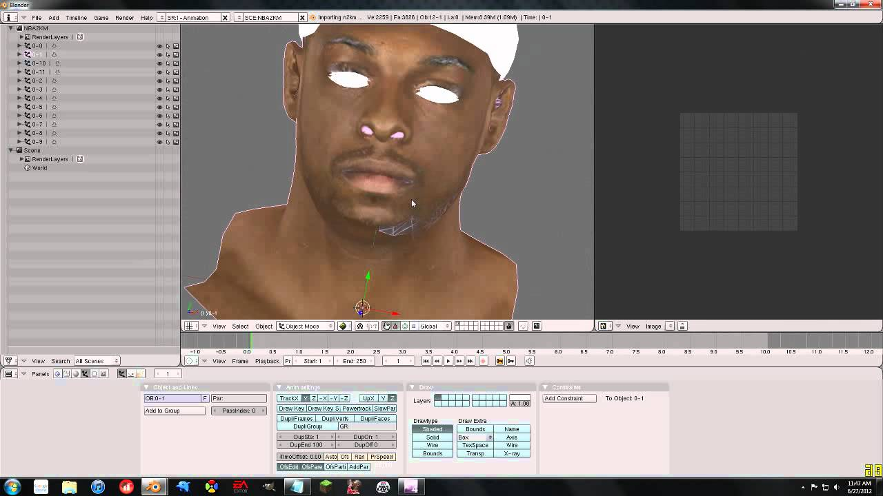 Nba 2k Pc Tutorials 3d Editing Cfs In Blender Youtube