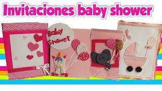 Baby shower niña invitaciones