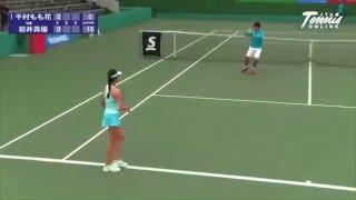 DUNLOP SRIXON 全日本ジュニアテニス選手権'15 U18 女子シングルス 決勝 千村もも花 VS 岩井真優