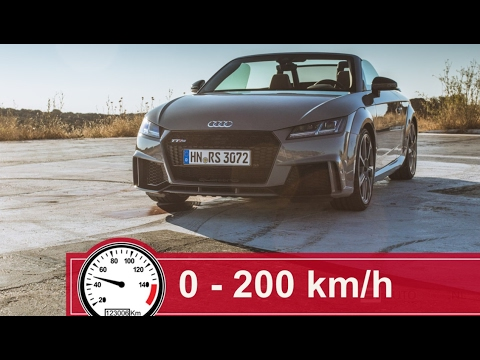 fast audi tt rs acceleration 0 200 km h youtube. Black Bedroom Furniture Sets. Home Design Ideas