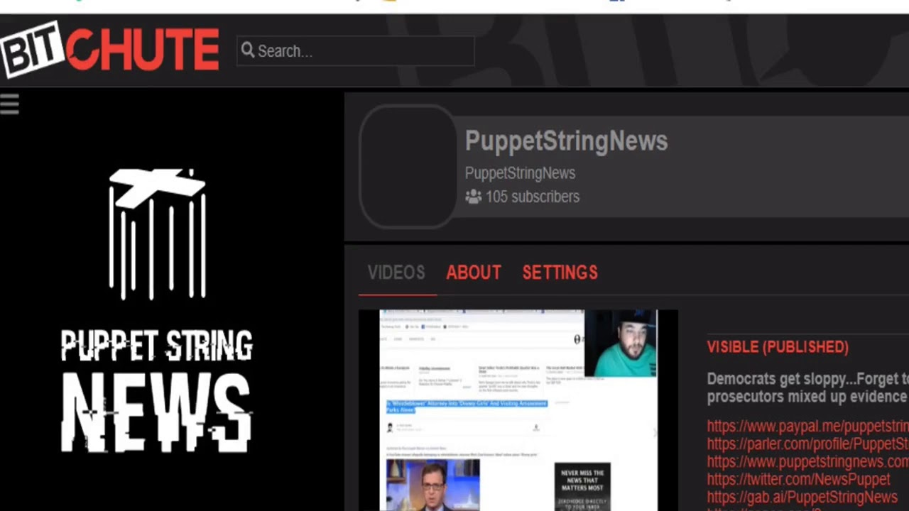 Puppet String News Mass migration to Bitchute/Parler