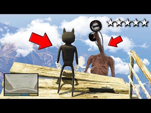 Playing as CARTOON CAT To FIGHT SIREN HEAD in GTA 5!