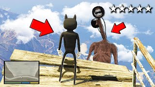 I Became CARTOON CAT and Attacked SIREN HEAD in GTA 5!