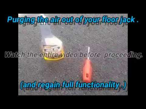 how to fix a floor jack that won t lift