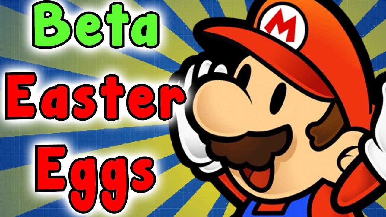 Super Paper Mario Beta Secrets And Easter Eggs Youtube
