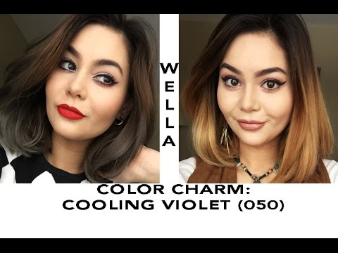 Wella Cooling Violet On Yellow Hair Tutorial Youtube