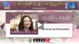 Técnicas de persuasão - Sandra Regina da Luz Inácio