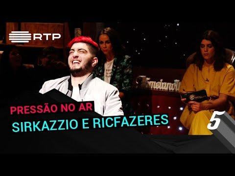 SirKazzio e RicFazeres no 5 Para a Meia-Noite da RTP